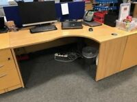 Quality Used R/H Curved Office Desk - 7 available