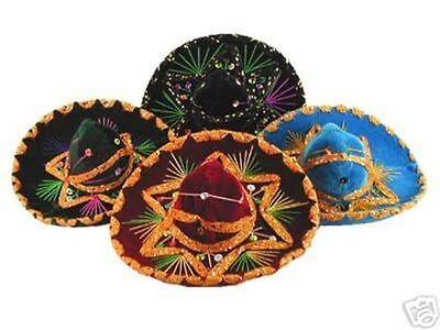 #138 Wholesale Sombrero Lot 12 Mini Charro Hats Fiesta Decorations Party Resale - Mini Sombrero Hats