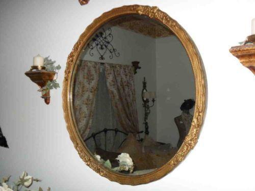 Antique Round Mirror Ebay