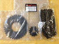 Honda Innova ANF125 ANF 125 Black Sprocket and Heavy Duty Chain Kit 2003-2011