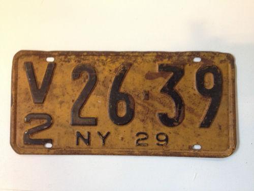 Ny License Plate Antique Ebay