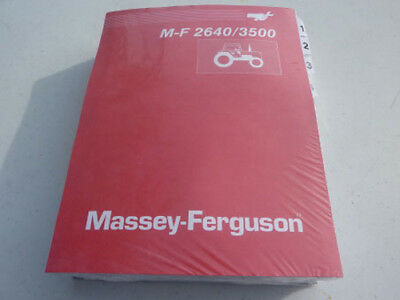 Used, MASSEY FERGUSON 2640, 3500 TRACTOR SERVICE REPAIR SHOP  MANUAL BOOK for sale  Shipping to India