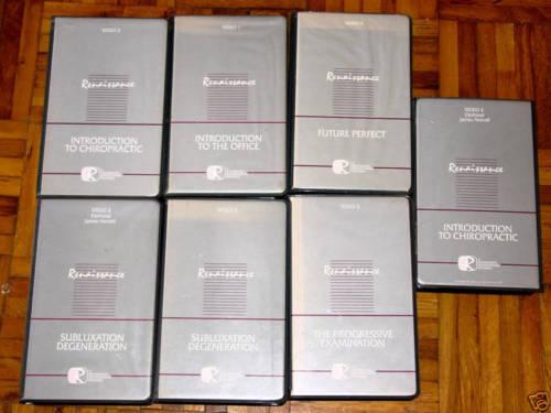 Renaissance Chiropractic Patient Education Videos, Set of 7, VHS