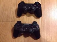 2 x Official Sony PS3 Wireless Dualshock Controllers