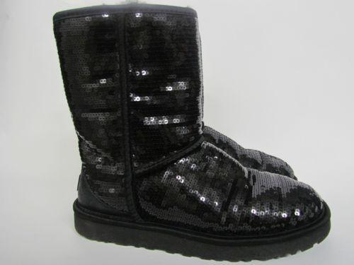 black glitter ugg boots cheap