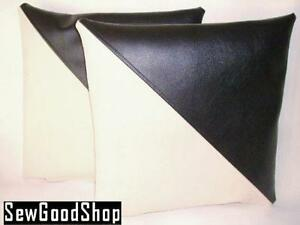Black and White Leather Cushions