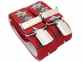 Trouser Braces/Suspender Red