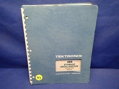 Tektronix 466 Storage Oscilloscope Woptions Service Manual