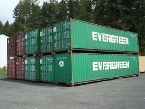 Sea containers for storage 20-40'