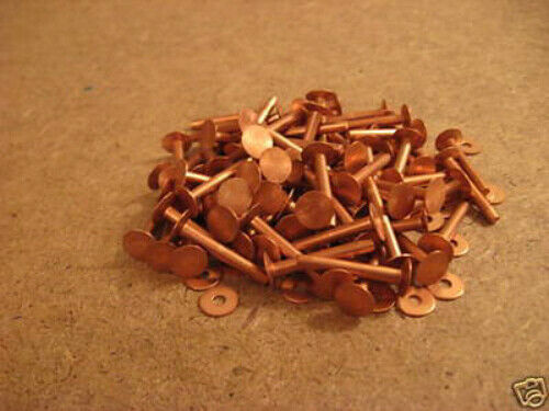 "Copper Rivets & Burrs 1"" 9 Gauge SCA (1 Pound)"