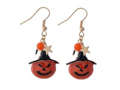 Goldtone Halloween Themed Fishhook Earrings ~ Gift Idea!