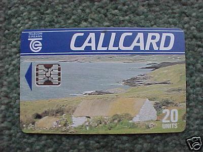 1990 Telecom Eireann Callcard Cottage Silver Chip USED