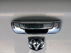 DODGE RAM 1500 2500 3500 TAILGATE HANDLE CHROME POIGNEE NEW