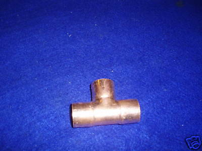 1 Copper Tee Wrot Copper Tee Fits Over 1-18 Od Pipe
