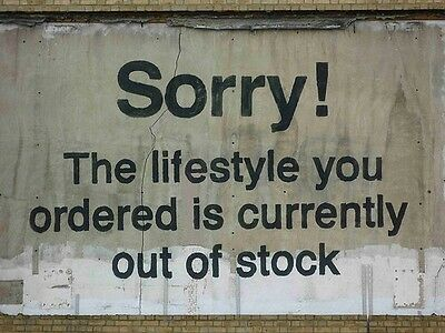 """Sorry The Lifestyle You Ordered.., Graffiti Art by Banksy, 8""""x10.5"""" Canvas Print"""