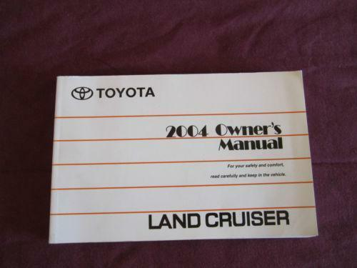 toyota land cruiser owners manual pdf