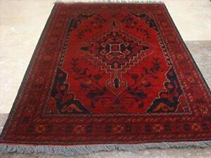 Afghan Khal Muhamadi Rectangle Area Rug Hand Knotted Wool Carpet (4.11 x 3.4)'