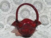 Fenton Red Basket
