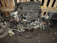 FORD FIESTA MK6/7 1.25 FUJA/FUJB COMPLETE ENGINE & GEARBOX WITH ANCILLARIES 72K