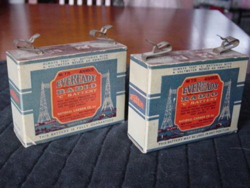 Vintage Eveready Battery Ebay