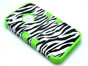 Lime Green Zebra iPhone 4 Case