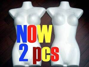 2xNEW MANNEQUIN Display TORSO Female GLOSSY WHITE Guildford Parramatta Area Preview