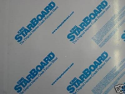 """1/4"""" X 24"""" X 54""""  WHITE KING STARBOARD POLYMER HDPE MARINE BOARD FREE SHIPPING*+"""