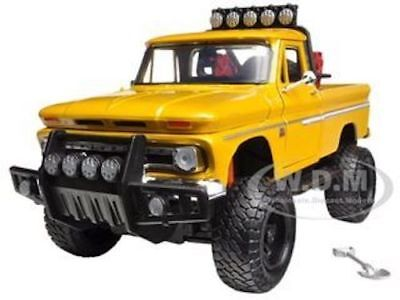 1966 CHEVROLET C10 FLEETSIDE PICKUP TRUCK OFF ROAD YELLOW 1/24 BY MOTORMAX 79131 for sale  Shipping to Canada