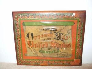 Map puzzle ebay vintage map puzzle gumiabroncs Gallery