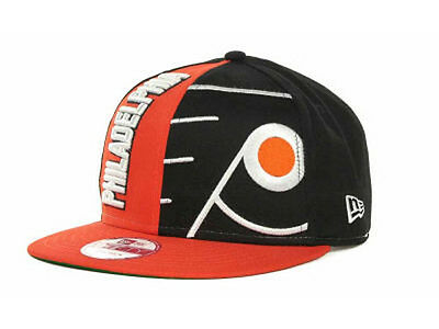 Split Bill Cap - Philadelphia Flyers NHL 9FIFTY Split Logos Team Snapback Flat Bill Brim Hat Cap