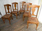 Oak T Back Chairs