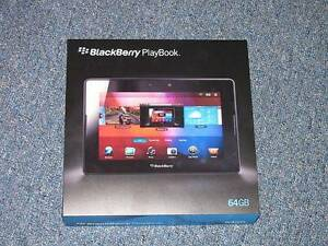 BLACKBERRY TABLET WITH 64 GB MEMORY,THE CHARGER AND ORIGINAL BOX