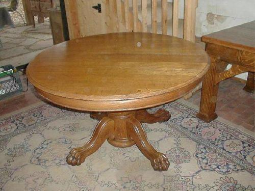 Antique Round Oak Dining Table eBay : 3 from www.ebay.com size 500 x 375 jpeg 34kB