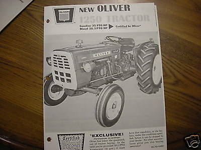 Oliver 1950 Tractor Dealer Brochure From Sales Manual