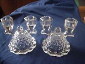 Vintage Clear Glass Candle Holders