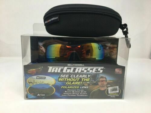 Bell and Howell TAC Glasses Sunglasses Polarized With Case AS SEEN ON TV