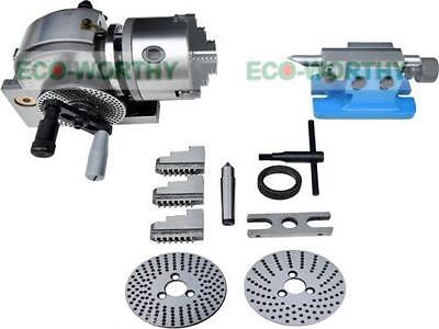 Precision Bs-0 Dividing Head Semi Universal Tailstock Chuck Spindle Milling Set