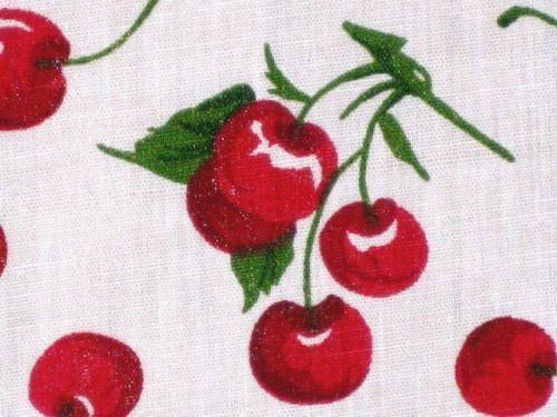 Cherry Print Fabric Ebay