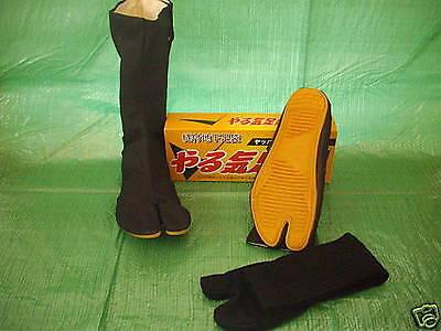 Japanese Ninja Tabi Boots with socks  24 - 28cm UK 6 - 10