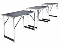 camping work carboot 3x aluminium table havy duty CALL 07828782341