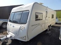 2009 Bailey Senator Wyoming 4 berth fixed bed,end bathroom. Excellent condition