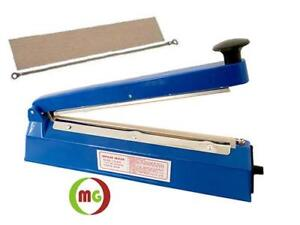 12 Impulse Bag Sealer, Hand Operated Bag Sealer, Table Top With Copper Transformer
