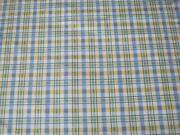 Blue Yellow Plaid Fabric
