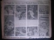 Hank Aaron Newspaper