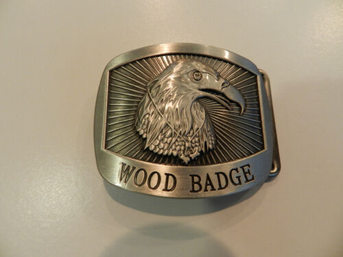 WOOD BADGE EAGLE BELT BUCKLE WOODBADGE