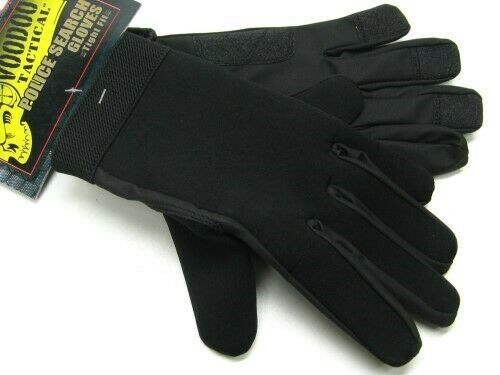 Voodoo Tactical 01-663501092 Black Neoprene Police Search Gloves Size Small