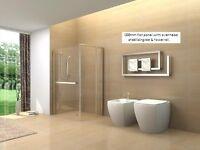 Wet room panel. Walk-In panel. Shower door. Lifetime warranty.