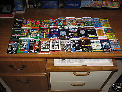 Big Lot 500 Old Football Cards In Sealed Packs! With 1988 Topps Pack!