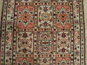 Bakhtiari Floral Rectangle Area Rug Hand Knotted Wool Silk Carpet (4 x 2.6)'