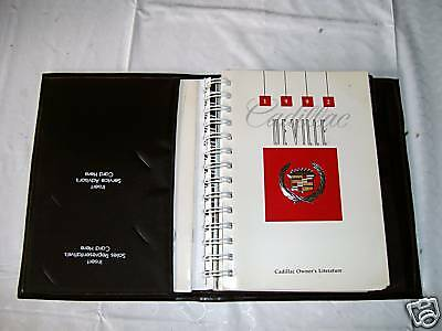 1992 CADILLAC DEVILLE OWNER'S MANUAL WITH CASE 92